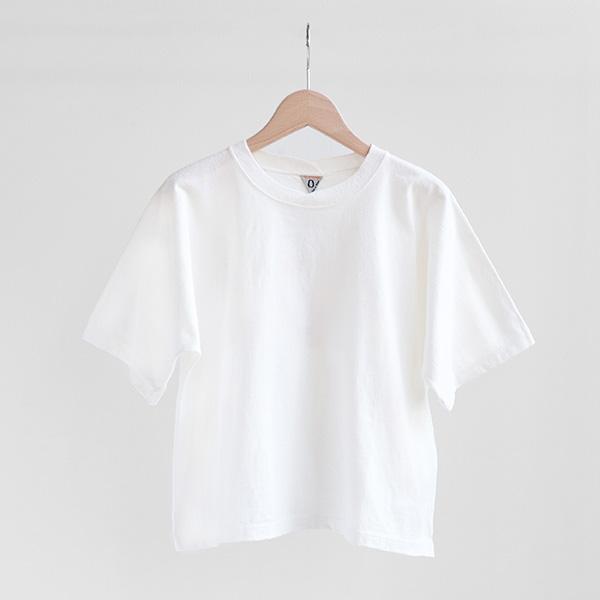 FilMelange フィルメランジェDEMI crossed-crewneck wide T-shirt Whiteデミ クロスクルーネック ワイドTシャツ ホワイト [1912048] [Casual]