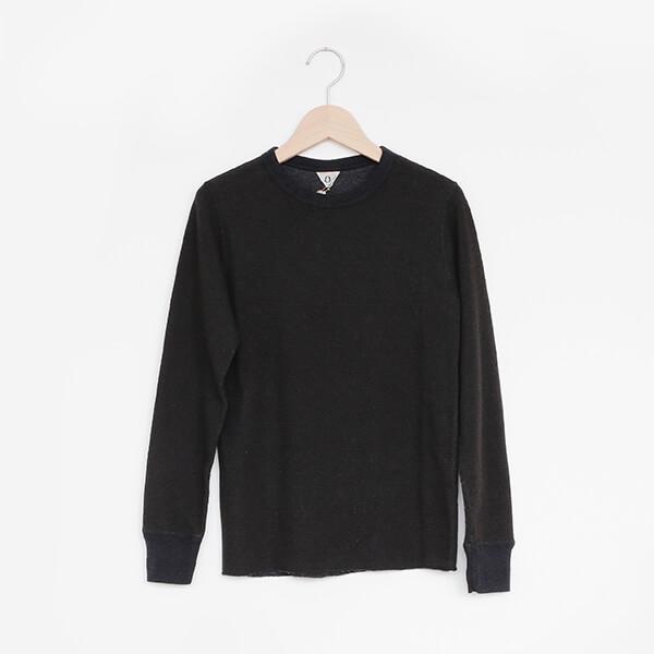 FilMelange フィルメランジェDREW2 long sleeve shirt Charcoal blackドリュー2 ロンT チャコールブラック [1003016-GL]