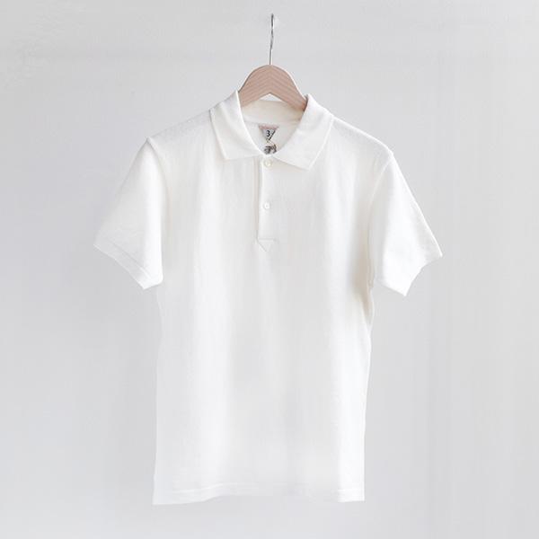 FilMelange フィルメランジェOUDNEY cotton knit polo shirt Whiteオードニー コットンニットポロTシャツ ホワイト