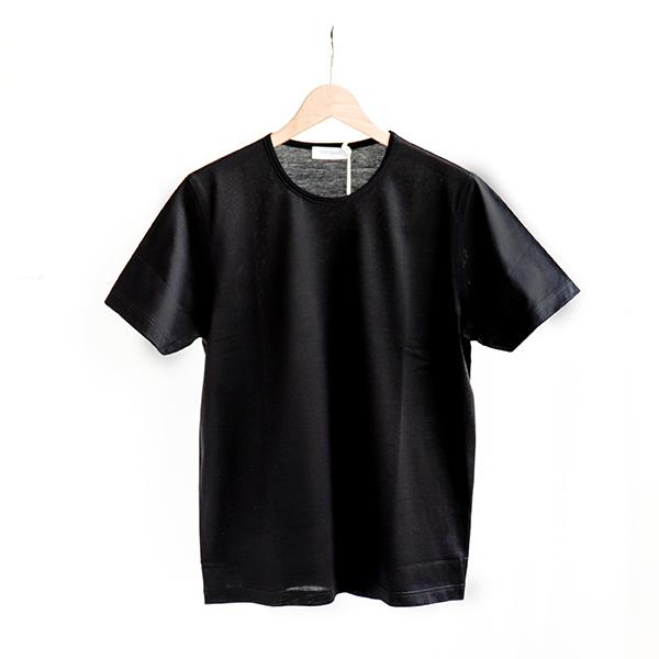 GRAN SASSO グランサッソ Cotton Short-sleeve T-shirt Black[60188-74001]コットン クルーネック Tシャツ ブラック [Business]