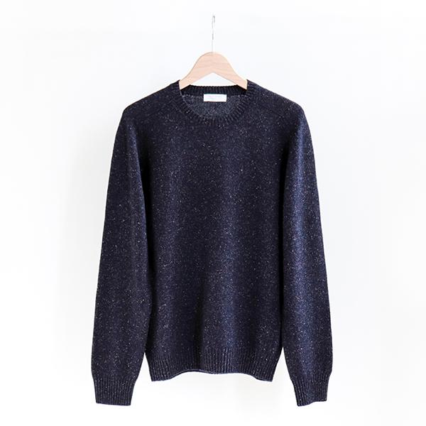 GRAN SASSO グランサッソ [23131 26304]Multi mix knit sweater Navyマルチミックス糸 セーター ネイビー