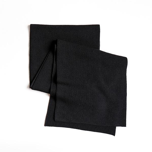 GRAN SASSO グランサッソ [23153 24604]Rain Wool Scarf Blackレインウールマフラー ブラック