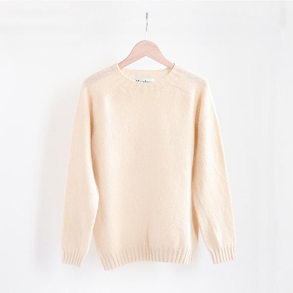 Harley of Scotland ハーレーオブスコットランドCrewneck sweater Creamクルーネックセーター クリーム [Casual]