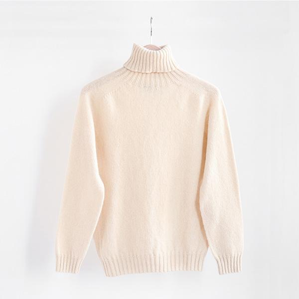Harley of Scotland ハーレーオブスコットランドTurtleneck sweater Creamタートルネックセーター クリーム