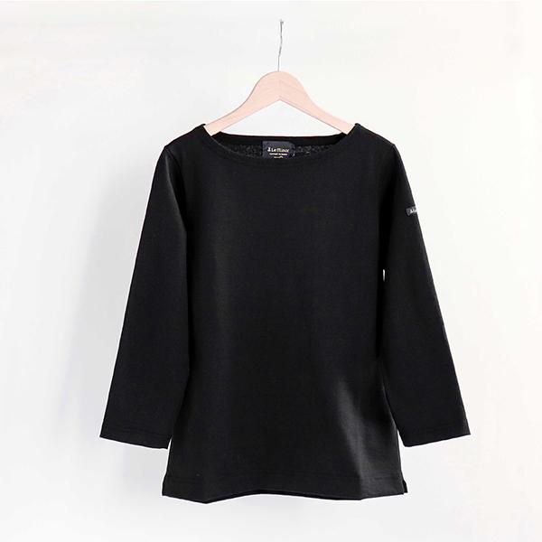 Le Minor ルミノアCotton shirt 3/4 sleeve Noirコットン カットソー 七分袖 ブラック [LEF995002]