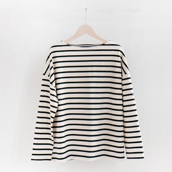 Le Minor ルミノアCotton Border shirt Ecru/Noirコットン ボーダーカットソー エクリュ/ブラック [LEF193004]