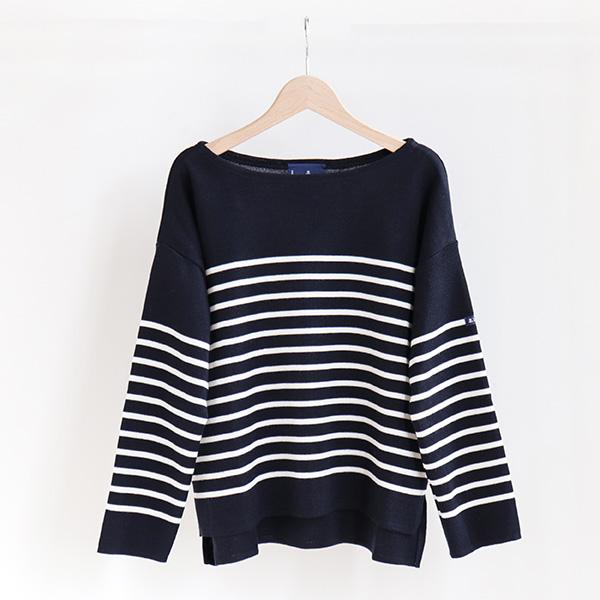 Le Minor ルミノアPanel border sweater Marine/Ivoryパネルボーダーセーター ネイビー/アイボリー [LEF193011]