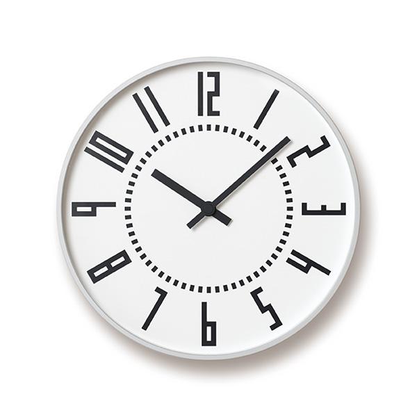 LEMNOS eki clock whiteレムノス eki クロック ホワイトTIL16-01 WH φ25.6cm