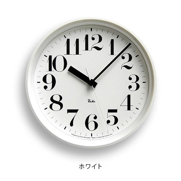 LEMNOS RIKI STEEL CLOCK WHITEレムノス リキスチールクロック電波時計 0825 20.4cm ホワイト