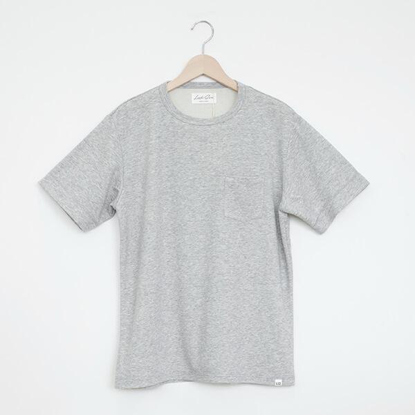 LOOKSEA ルクシーCOTTON & SILK CREW-NECK T-SHIRT GREYコットン&シルク クルーネックTシャツ グレー