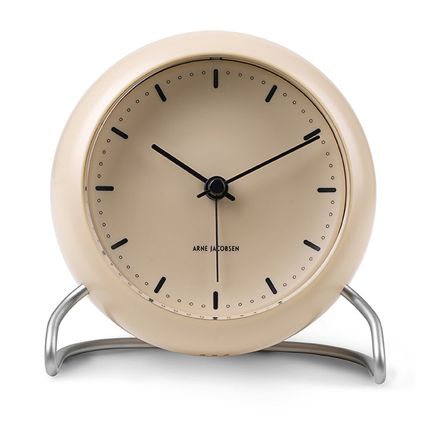 Arne Jacobsen アルネ・ヤコブセンTable Clock CityHall テーブルクロック シティホールSandy beige サンディベージュ