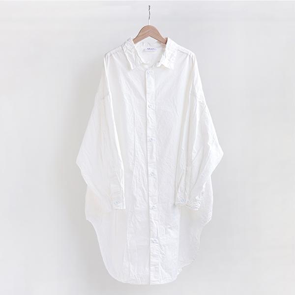 Yarmo ヤーモCotton Chambray Oversized Shirt Whiteコットン オーバーサイズシャツ ホワイト[Casual]