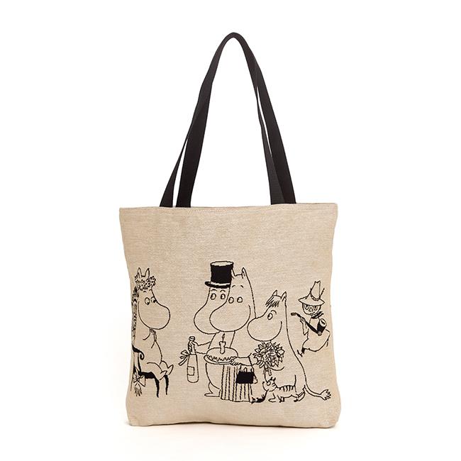【送料無料】Moomin ムーミン ゴブラン織り ビッグトートバッグ ( バースデー )【北欧雑貨】