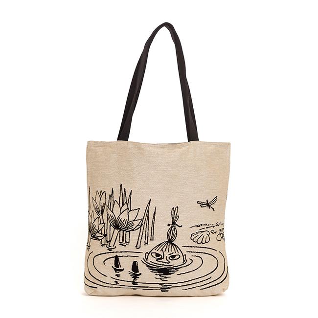 Moomin ムーミン Aurora Decorari オーロラ デコラリ ゴブラン織り ビッグトートバッグ ( 池の中のリトルミイ )【北欧雑貨】