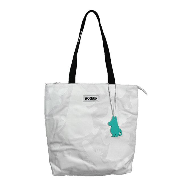【送料無料】Moomin ムーミン mozo モゾ キャンバス トートバッグ スモール ( シャドウ / ホワイト )【北欧雑貨】