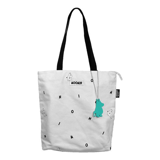 【送料無料】Moomin ムーミン mozo モゾ キャンバス トートバッグ スモール ( アイコン / ホワイト )【北欧雑貨】