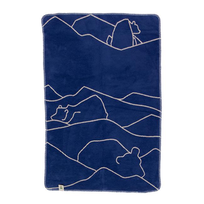 【送料無料】fabulous goose ファブラス グース コットンブランケット ( ISBJORN シロクマ / インディゴ×サンド 75×100cm )【北欧雑貨】
