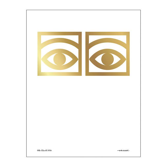 【送料無料】Olle Eksell オーレ・エクセル ポスター ( カカオアイズ ゴールド / 50×70cm )【北欧雑貨】