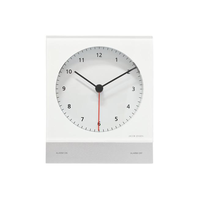 【送料無料】Jacob Jensen ヤコブ・イェンセン アラームクロック (ホワイト/JJN030015)【北欧雑貨】