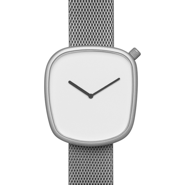 【送料無料】bulbul ブルブル ウォッチ Pebble Matt Steel on German Made Milanese Mesh Band 【北欧雑貨】