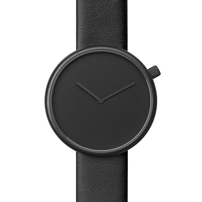 【送料無料】bulbul ブルブル ウォッチ ORE Matte Black Steel on Black Italian Leather【北欧雑貨】