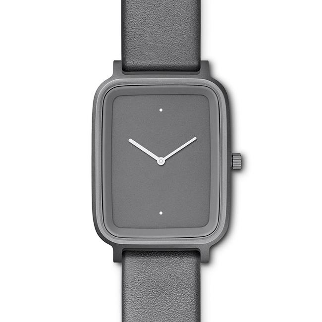 【送料無料】bulbul ブルブル ウォッチ OBLONG Stone Grey Titanium Coated Steel on Grey Italian Leather【北欧雑貨】