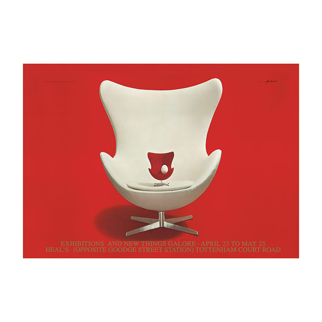 【送料無料】Ib Antoni イブ・アントーニ ポスター 50×70cm ( アルネ・ヤコブセン エッグチェア )【北欧雑貨】