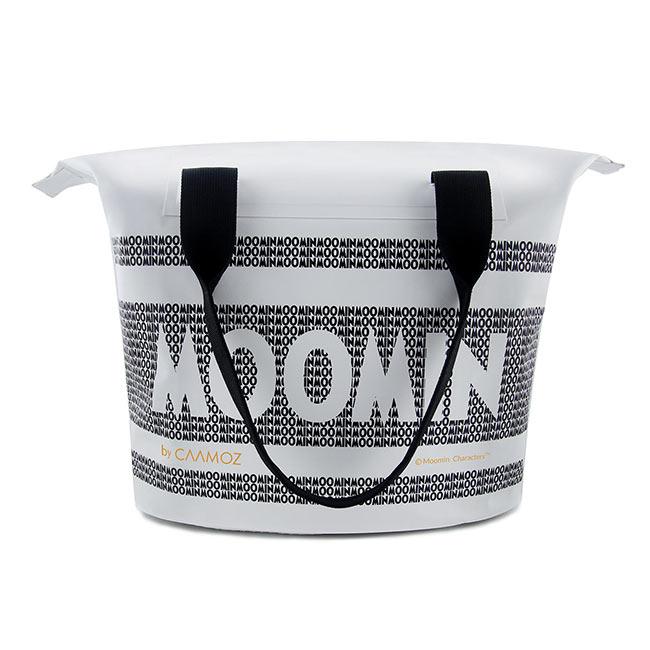 【送料無料】MOOMIN ムーミン CAAMOZ カーモズ ジッパー付きトートバッグ ( 10L / ムーミンロゴ / ホワイト )【北欧雑貨】