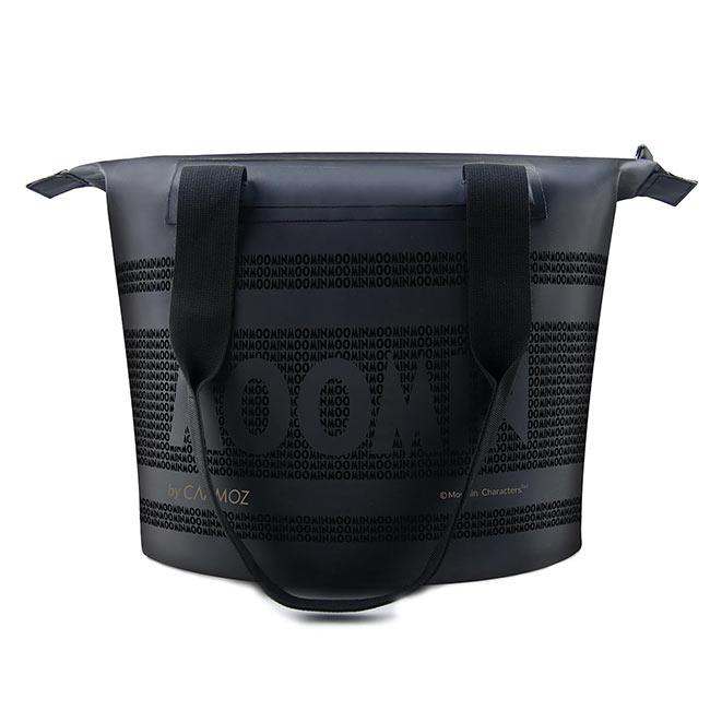 【送料無料】MOOMIN ムーミン CAAMOZ カーモズ ジッパー付きトートバッグ ( 10L / ムーミンロゴ / ブラック )【北欧雑貨】