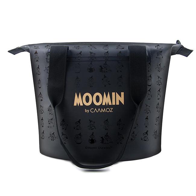 【送料無料】MOOMIN ムーミン CAAMOZ カーモズ ジッパー付きトートバッグ ( 10L / リトルミイ / ブラック )【北欧雑貨】