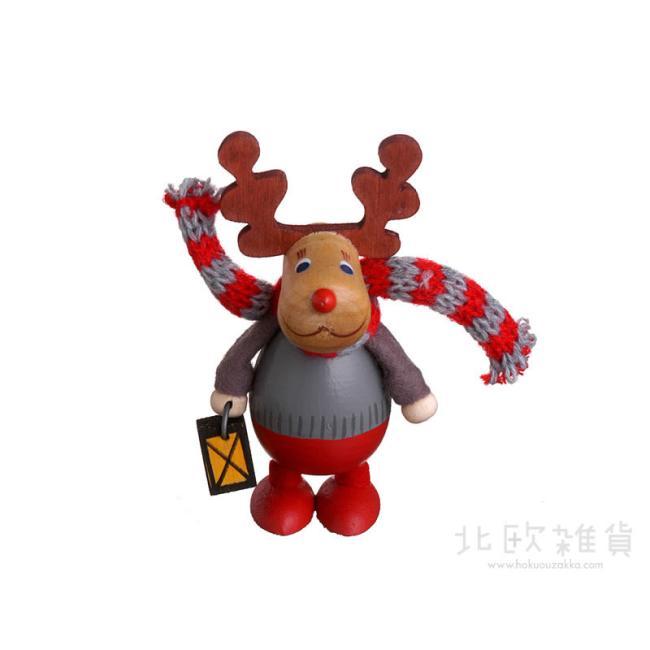 北欧雑貨 出荷 北欧クリスマス 木製人形 置物 オーナメント 毎日がバーゲンセール 楽ギフ_のし宛書 楽ギフ_包装 楽ギフ_メッセ入力 NORDIKA クリスマス ランタンを持った胴長トナカイ ニッセ ノルディカ nisse NRD120112