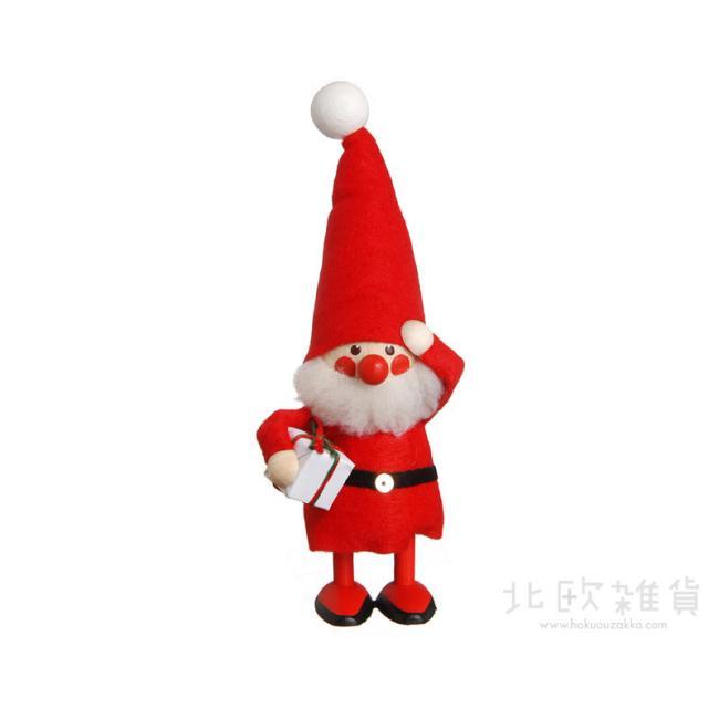 北欧雑貨 北欧クリスマス 木製人形 置物 オーナメント サンタ 人気急上昇 楽ギフ_のし宛書 楽ギフ_包装 楽ギフ_メッセ入力 レッド NORDIKA NRD120063 クリスマス ノルディカ プレゼントを持ったサンタ 日本製 ニッセ nisse