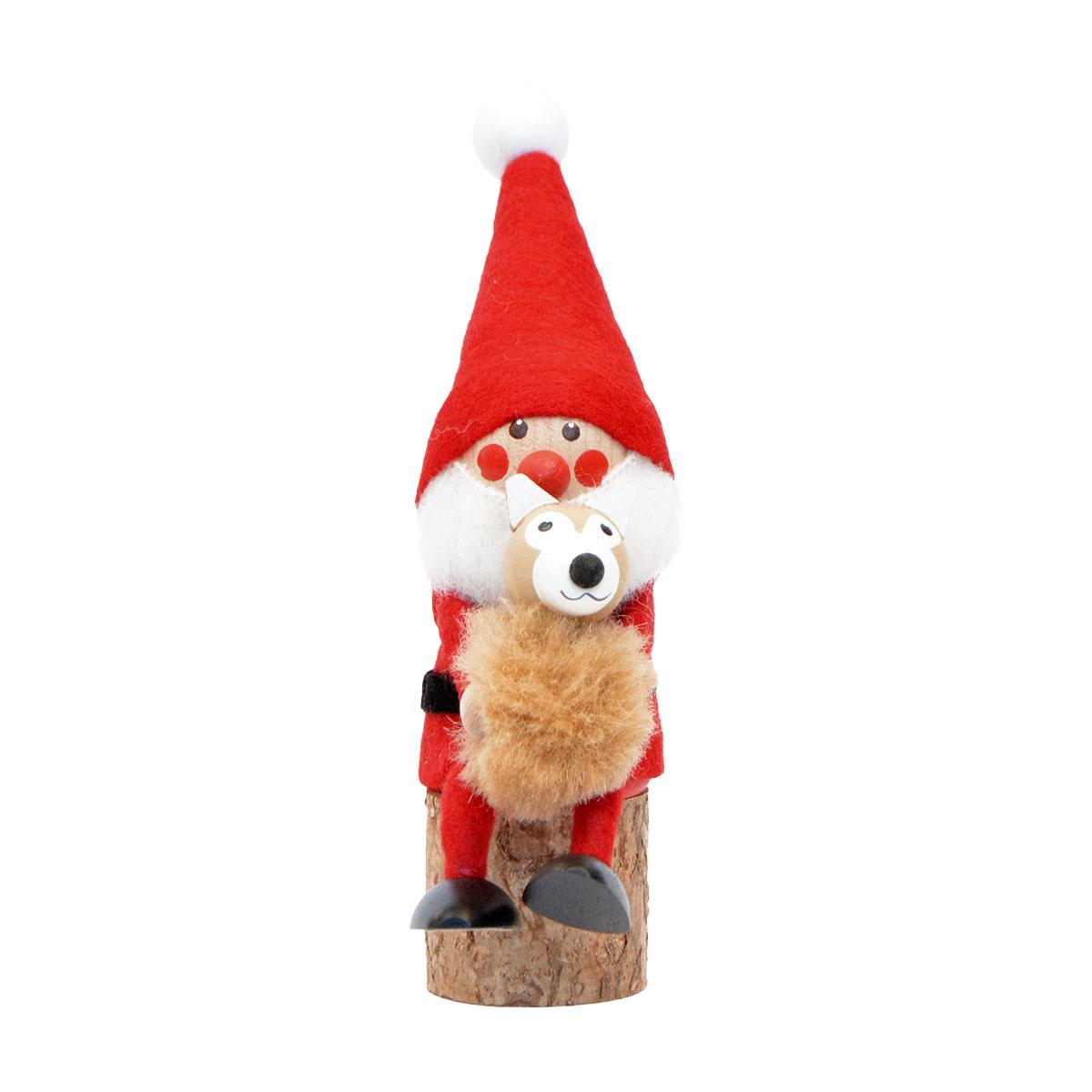 北欧雑貨 北欧クリスマス 木製人形 置物 オーナメント NORDIKA nisse ノルディカニッセ 激安挑戦中 イヌを抱えるサンタ NRD120569 楽ギフ_メッセ入力 楽ギフ_包装 ニッセ 春の新作続々 クリスマス ノルディカ