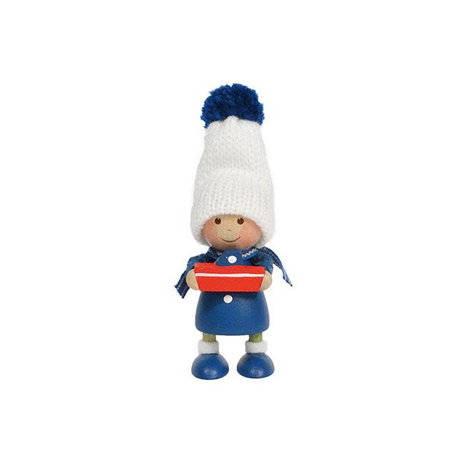 北欧雑貨 北欧クリスマス 木製人形 新着セール 開催中 置物 オーナメント NORDIKA nisse ノルディカニッセ ニッセ 小舟を持った青いコートの男の子 NRD120592 楽ギフ_包装 ノルディカ クリスマス 楽ギフ_メッセ入力
