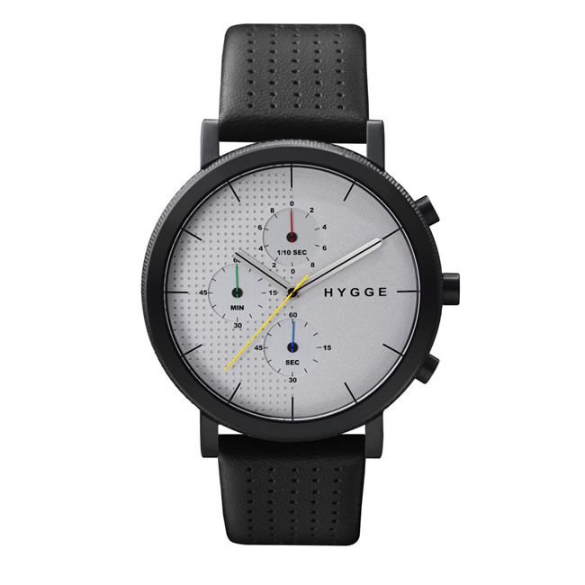 【送料無料】HYGGE ヒュッゲ ウォッチ 2204 SERIES WATCH LEATHER (White dial Black case/MSL2204BC(CH))【北欧雑貨】