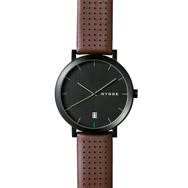 【送料無料】HYGGE ヒュッゲ ウォッチ 2203 SERIES WATCH Brown LEATHER (Black dial Black case / MSL2203BC(BO))【北欧雑貨】