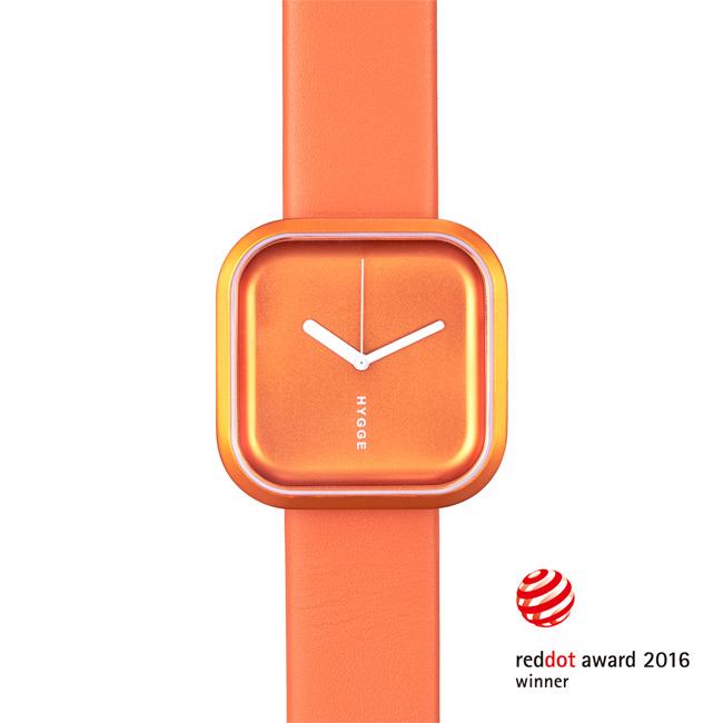 【送料無料】HYGGE WATCH ヒュッゲ ウォッチ VARI バリ インデックスなし (Sunset orange / HGE020074)【北欧雑貨】