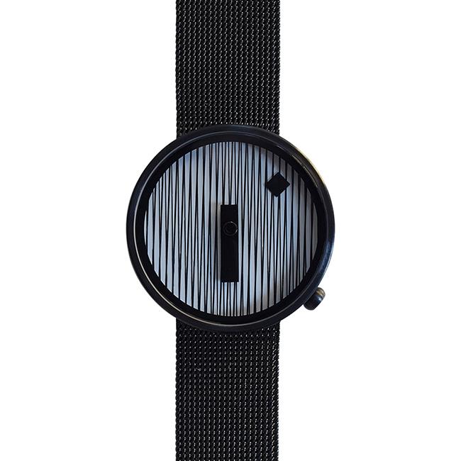 【送料無料】NAVA DESIGN ナヴァ デザイン ウォッチ JACQUARD ジャカード BLACK MESH ( 39mm / NVA020041 )【北欧雑貨】