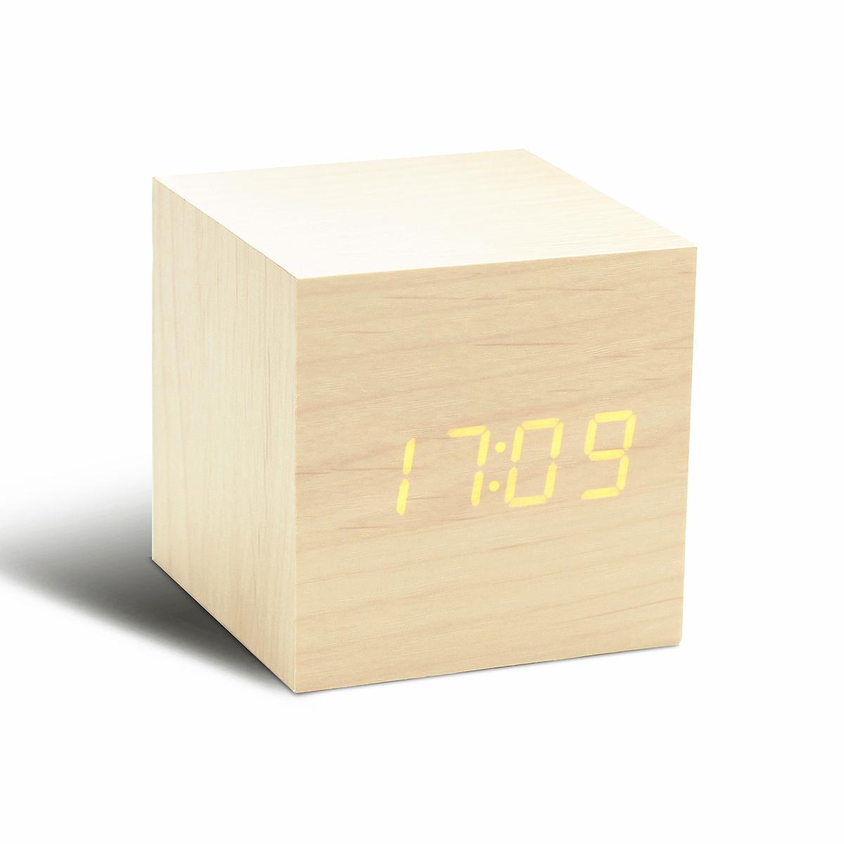 Gingko Design ギンコーデザイン 驚きの値段で メープル 贈り物 オレンジLED キューブクリッククロック