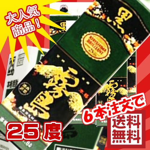 Kirishima Shuzo potato shochu black Kirishima Pack 25 degrees 1800 ml