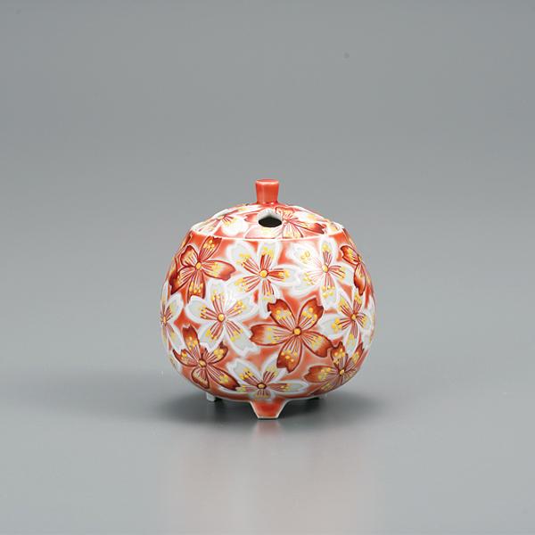 九谷焼 3.2号香炉 花紋AP5-1304