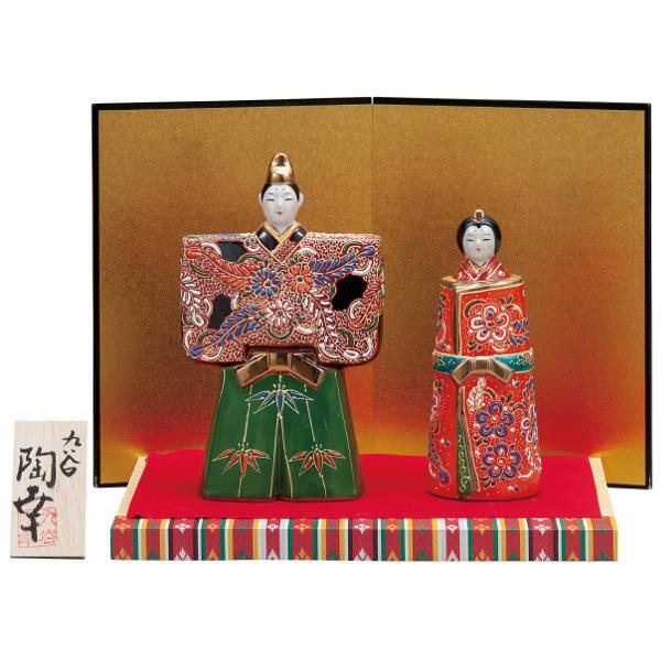 九谷焼ひな人形 陶幸 5.5号立雛人形 細描盛K6-1591[コンパクト収納飾り 親王飾り]