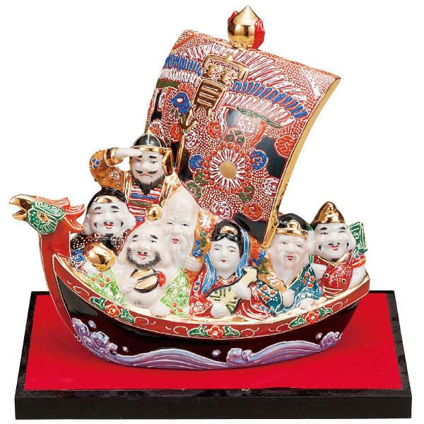 九谷焼 7.5号七福神宝船 盛K6-1624