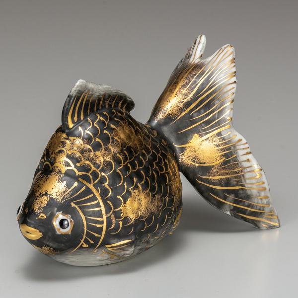 九谷焼 5号金魚 黒彩K6-1620
