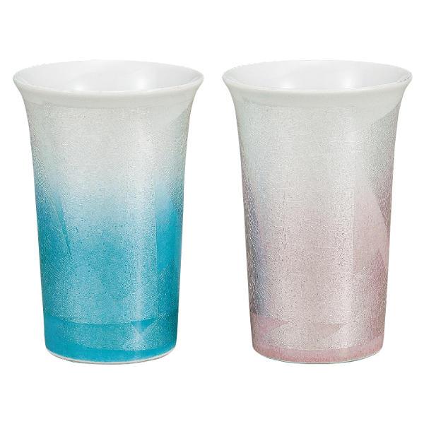 九谷焼 ペアフリーカップ 銀彩K6-1115[ビアカップ ビールカップ ビアグラス ビールグラス]
