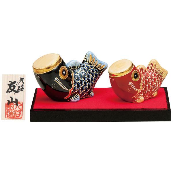 九谷焼五月人形 友山 3.5号こいのぼり 盛K6-1598[コンパクト飾り]