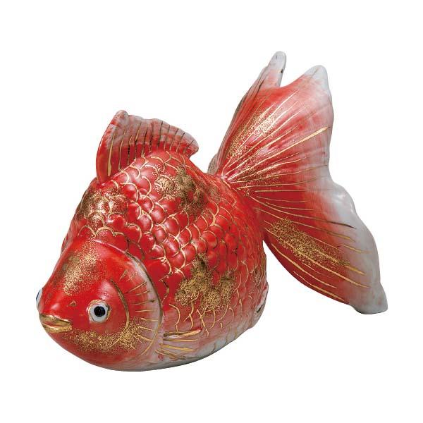 九谷焼 5号金魚 赤彩K6-1619