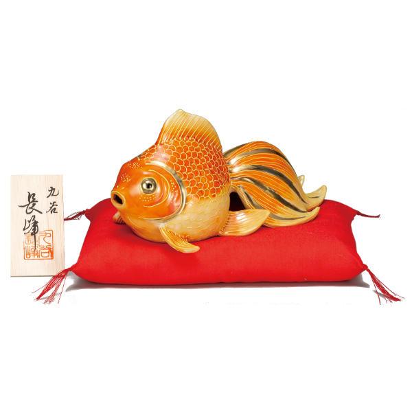 九谷焼 長峰 7号金魚 紅盛K6-1622