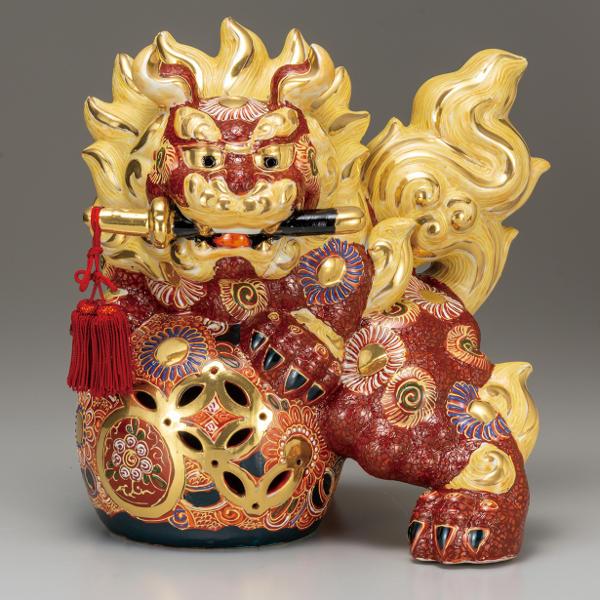 九谷焼 10号剣獅子 盛K6-1640
