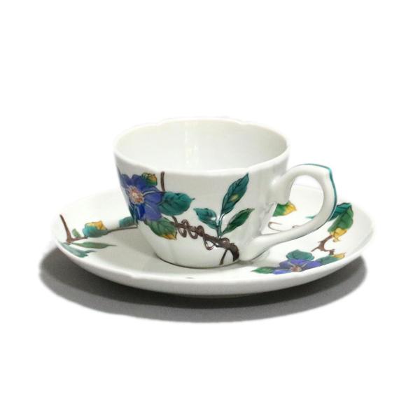三ツ井為吉 九谷焼コーヒー碗皿(コーヒーカップ&ソーサー)鉄仙